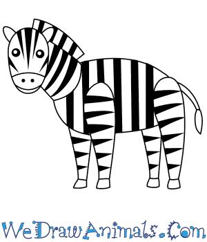 zebra draw simple easy steps tutorial tutorials split