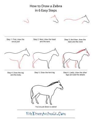 zebra step draw drawing wedrawanimals drawings quick tutorial paintingvalley