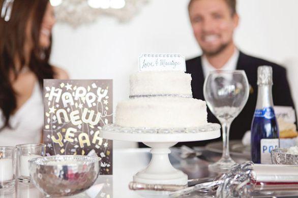 Svatební dort a krásný Nový rok!