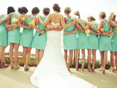Bílá nevěsta a mintové družičky