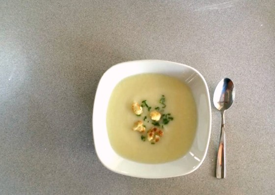 cauliflower soup   wee eats