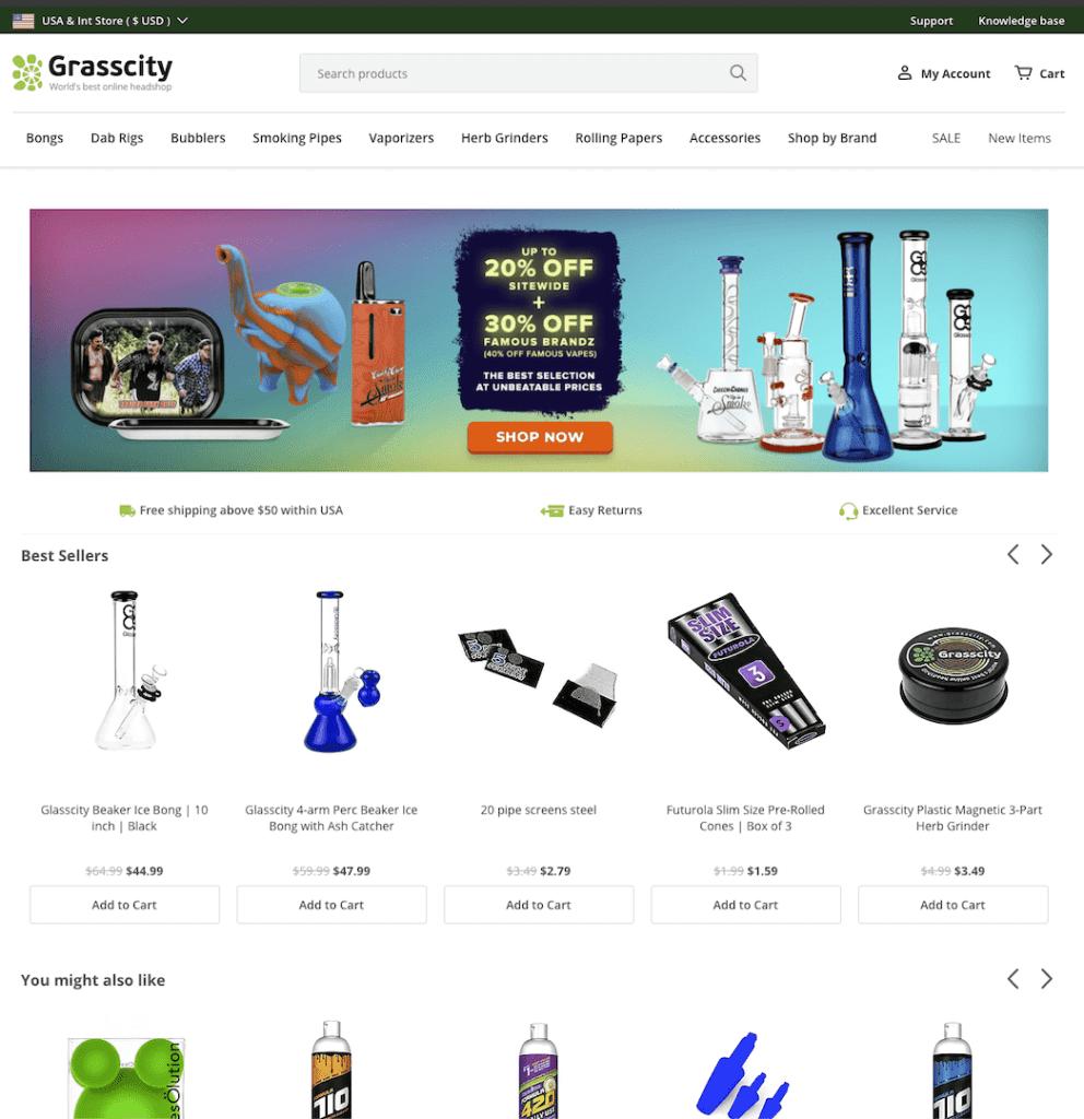 grasscity online shop home page
