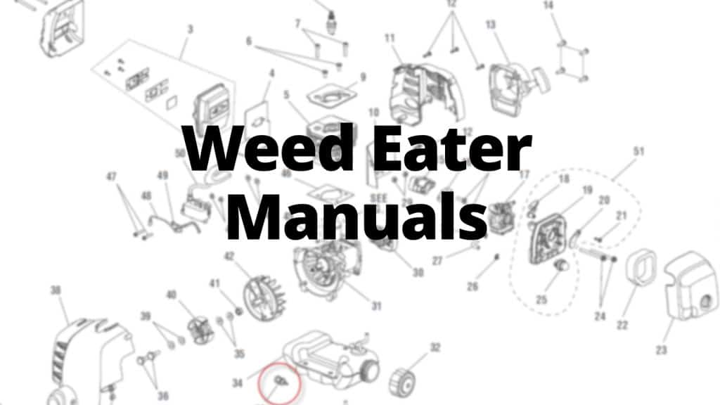 Weed Eater Manuals, Care Guides, and Literature Parts