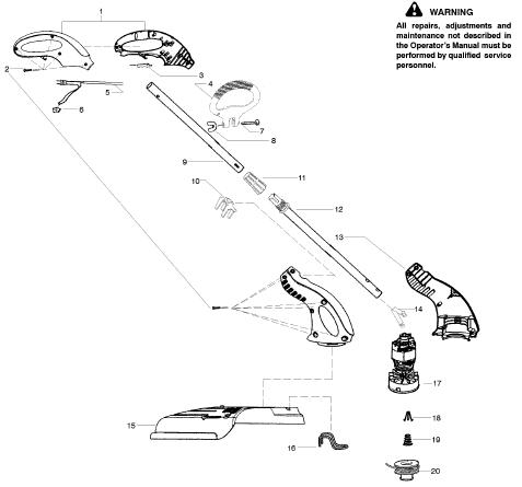 Weedeater RTE112C Parts