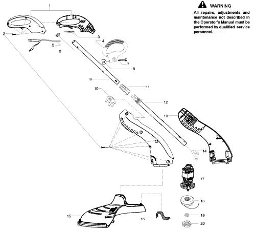 Weedeater RTE115C Parts