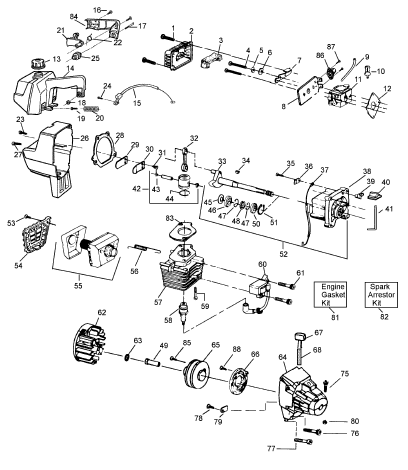 Weedeater SST45 Parts