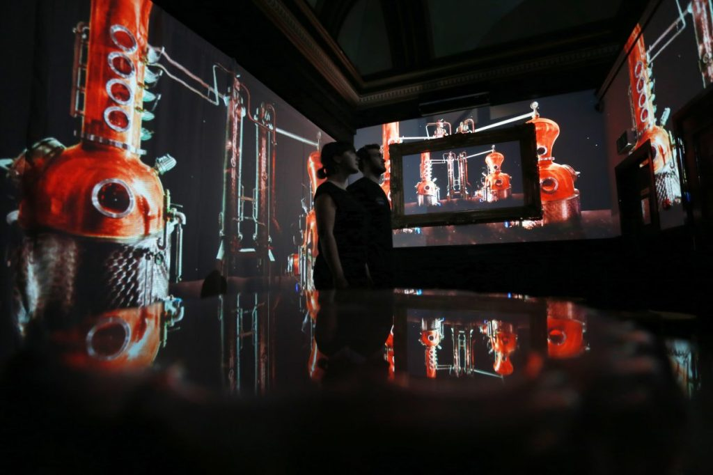 Immersive multi projection mapping experience, Fringe Edinburgh