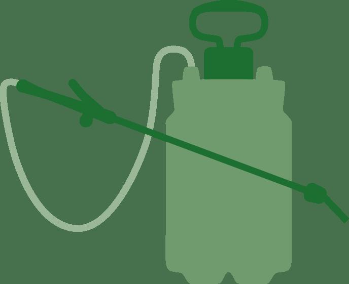 Illustration of herbicide spray pack