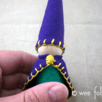 Felt Waldorf Peg Gnome Pattern & Tutorial