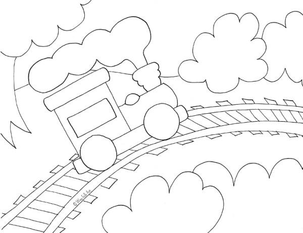 train coloring # 59