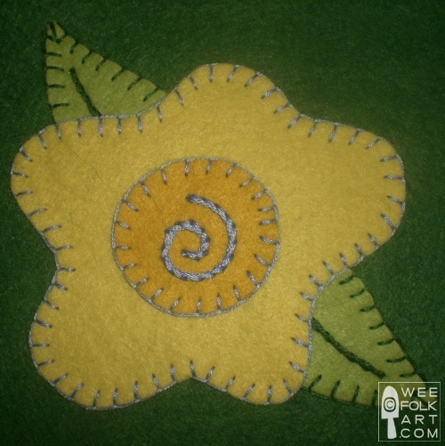 flower applique block