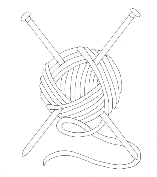 Ball of Yarn Coloring Page » Wee Folk Art