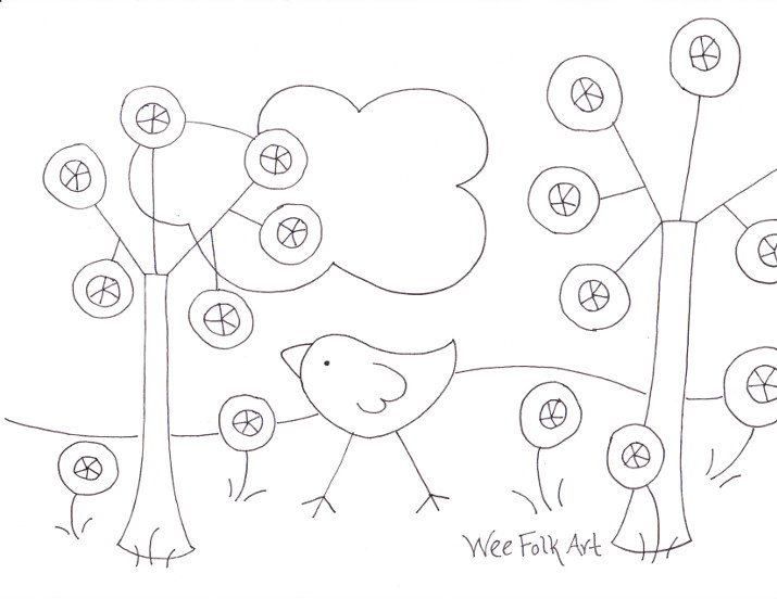 FREE Coloring Pages » Wee Folk Art