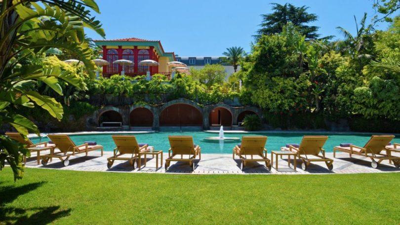 Piscine de l'hôtel 5 étoiles Pestana Palace - Lisbonne