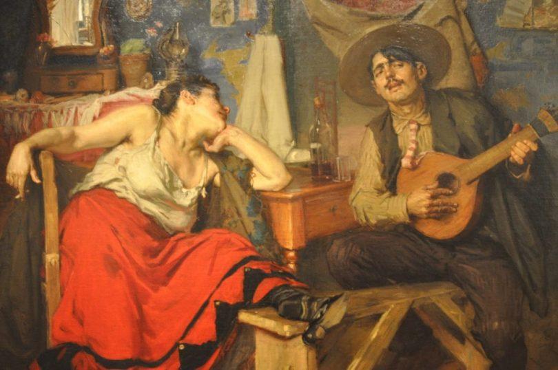 Fado de Jose Malhoa - Peinture de 1910