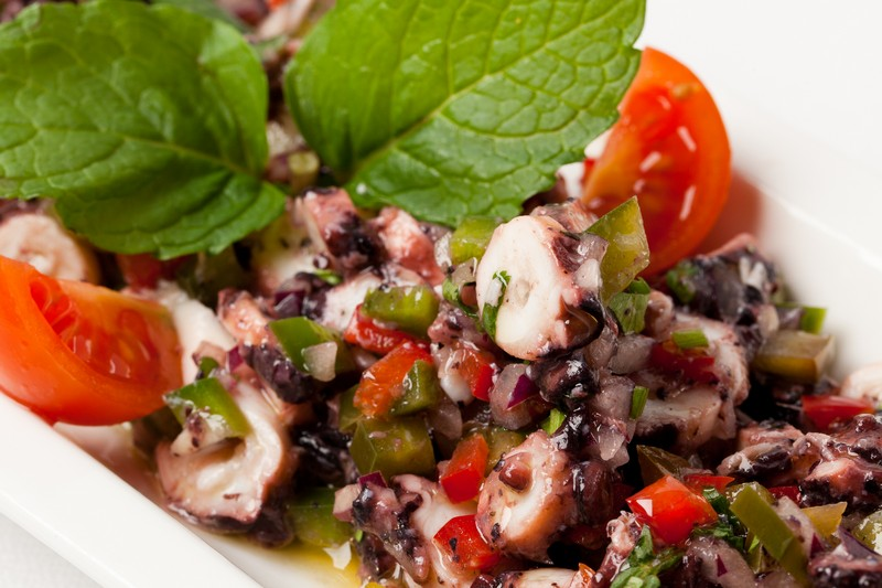 Salade de Poulpe - Restaurants Frade dos Mares - Lisbonne - Santos