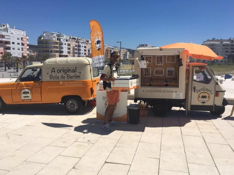 Foodtrucks Berlineta - Beignets de plage - Bolas de Berlim - Plage Costa da Caparica - Lisbonne