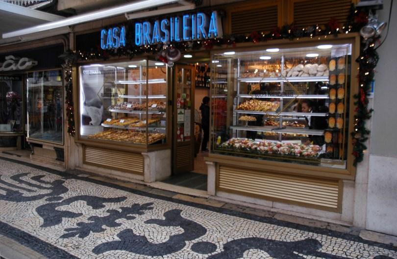 Casa Brasileira - Boulangerie - Patisserie - Encas sales - Centre Lisbonne - Rua Augusta - Street Food