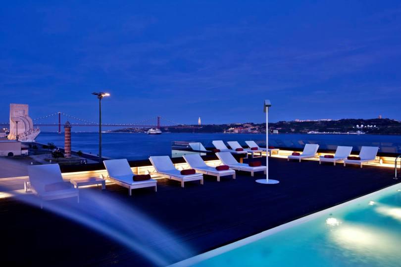 Piscine Altis Belem Hotel et Spa - Piscine avec vue - rooftop - Lisbonne