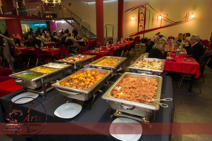 Buffet de plats chauds - Restaurant 7a Arte Alcantara - Lisbonne