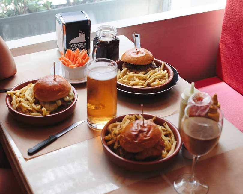 Burgers de chez Burger Factory - LX Factory - Lisbonne