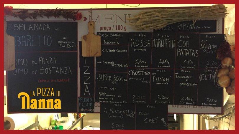 Carte de Pizza di Nana - Pizzeria Lisbonne