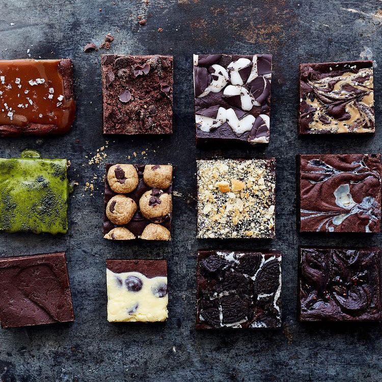 Parts de brownies chez Miss Brownie - Lisbonne - Portugal