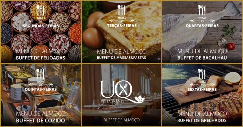 Restaurant UQ - Skyna Hotel - Liste des buffets thematiques - Lisbonne
