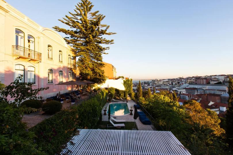Torel Palace - Terrasse - Piscine - Facade - Boutique hotel 5 etoiles - Lisbonne