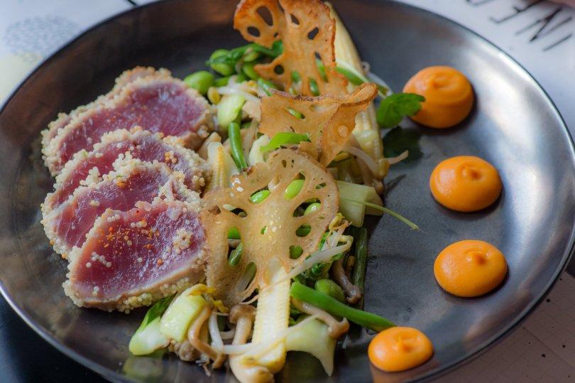 Le flash tuna du restaurant Infame du 1908 Lisboa Hotel - Lisbonne