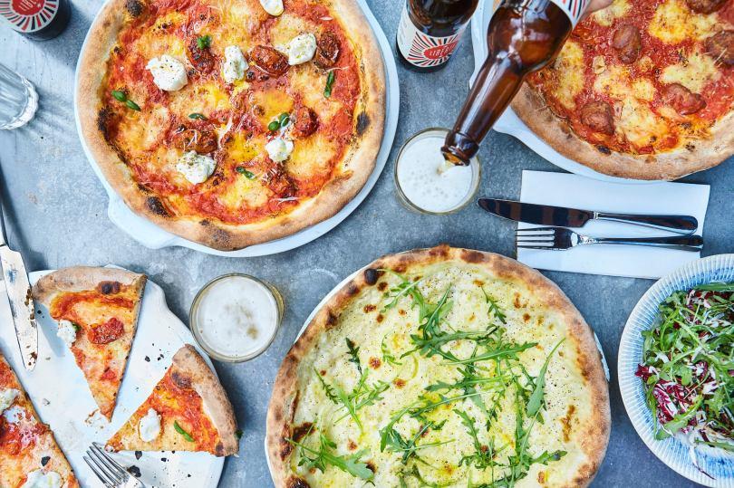 Pizzas de chez Jamie Italian - Lisbonne