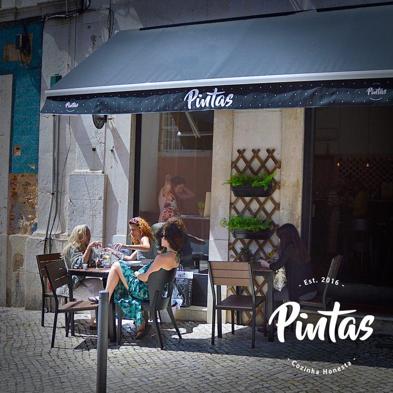 Devanture du restaurant Pintas - Lisbonne