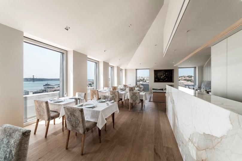Salle principale du restaurant Suba - Hotel Verride Palacio Santa Catarina - Lisbonne