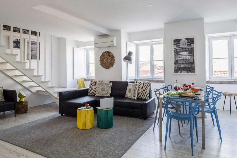 sejour appartement de 3 chambres - Hello Lisbon Apartments - Quartier Rossio - Lisbonne