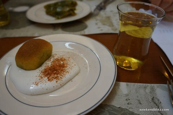 KEREBIC (DOGU AKDENIZ): 4 TL: Flour, coven root, pistachio, semolina. Hard, densely packed pistachio in middle.