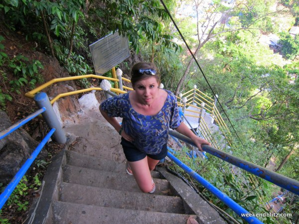 ... My fear of heights just didn't really love the million steps up.