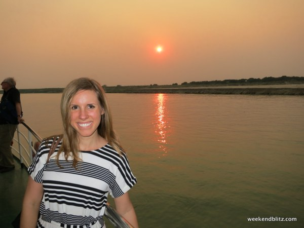 One of the most beautiful sunsets we saw in Myanmar