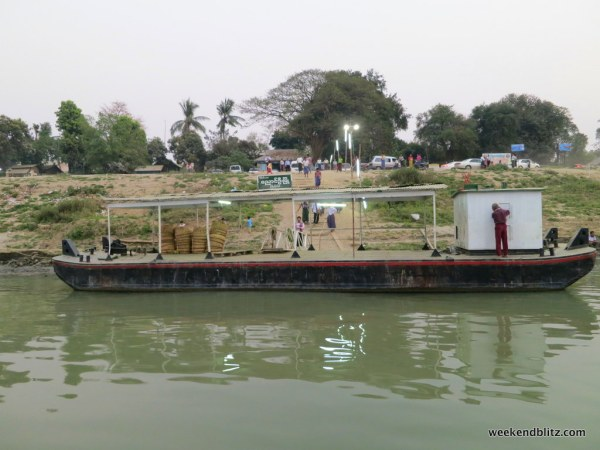 Pulling up to the ferry dock in Bagan/Nyaung-u