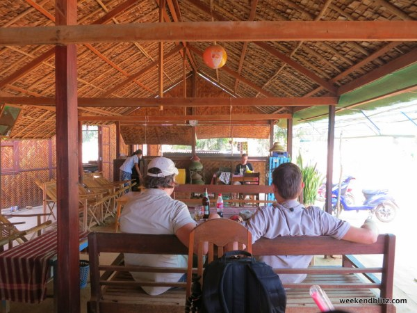 Cafe in the middle of no where offering water and a delicious coconut milkshake