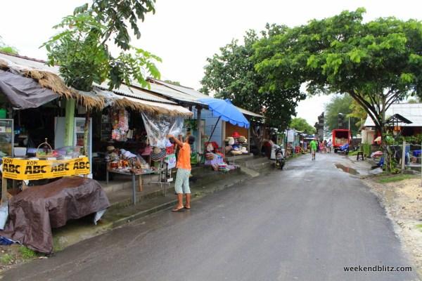 Souvenir shops outside of the temple