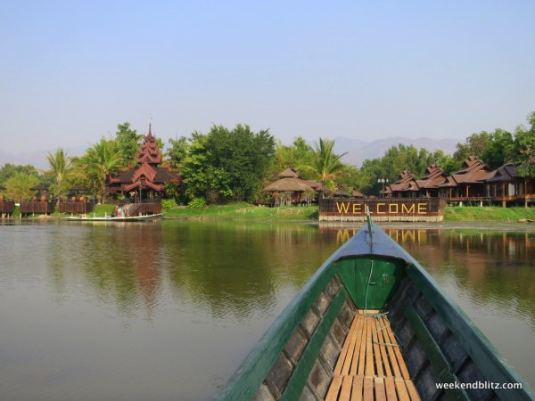 View of Inle Resort & Spa from the lake