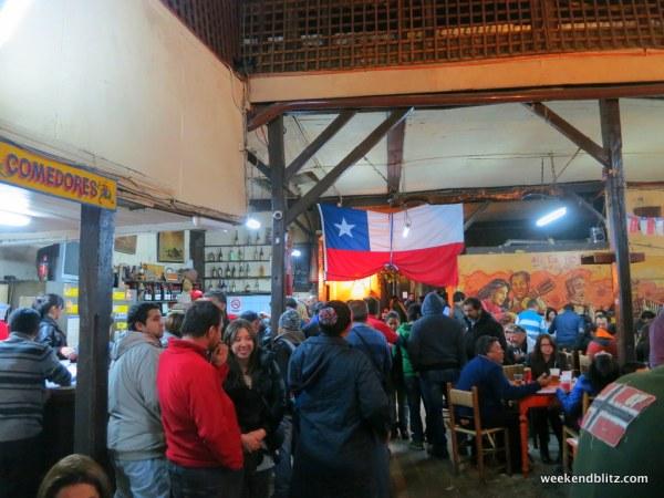 The rowdy crowd at La Piojera
