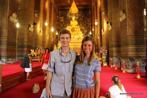 Inside the ubosot of Wat Pho