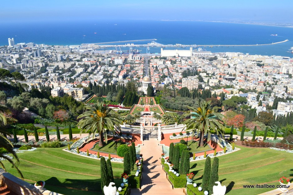 Haifa - Israel -View of Coastline  from Ba'Hai Gardens