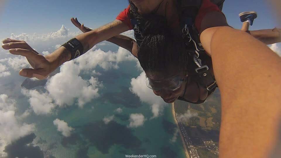 keisha skydiving