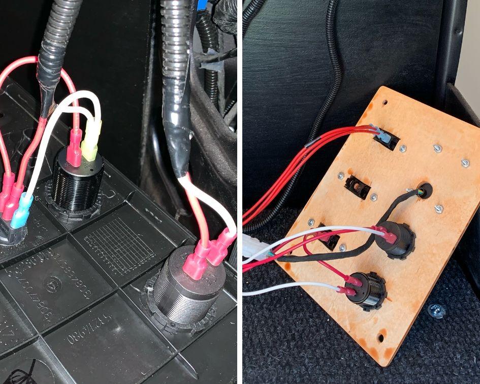 Installing Usb Chargers And 12v Sockets, 12v Power Socket Wiring Diagram