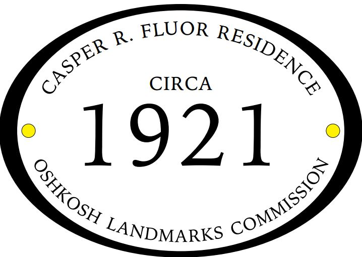 Historic Plaque for the Fluor House
