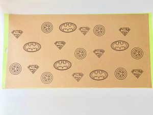 custom superhero wrapping paper with cricut.