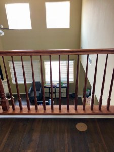 DIY update oak bannister
