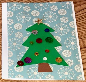 DIY kids' christmas card